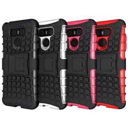Wholesale Heavy Duty Mobile - Phone Case For LG G6 Phone Cover Case Heavy Duty Shockproof Hard Rugged Rubber Silicone Mobile Phone Cover Case