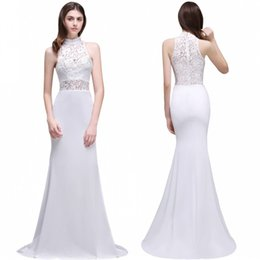 Wholesale Garden Models - 2017 Gorgeous Boho Lace Backless Mermaid Wedding Dresses Elegant Sheer High Cheap Under $40 Bridal Gowns Robe de mariage CPS502