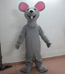 Wholesale Mouse Costume For Sale - 100% real photo adult grey mouse rat mascot costume for sale with one mini fan inside the head