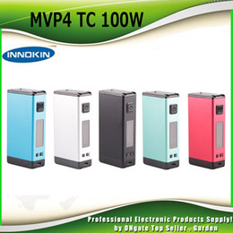 Wholesale Bank Boxes - Original Innokin iTaste MVP4 100W TC Box Mod 4500mah Battery Power Bank Aethon Chipset Authentic MVP 4.0 Vapor Device 100% Genuine DHL Free