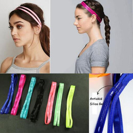 Wholesale Stretch Candy Girls - 2017 Candy Colors Fashion Anti-Slip Double Bands Elastic Headband Women Girl Sport Hairbands Elastic Sports Stretch Headbands for Women 426