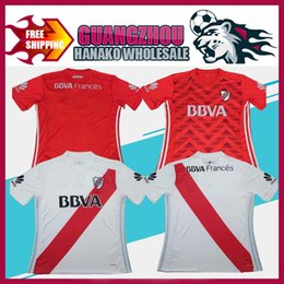 Wholesale River S - 2017 River Plate home white Soccer Jersey 2017 River Plate away red Soccer Shirt 17 18 Customized football Uniform Sales