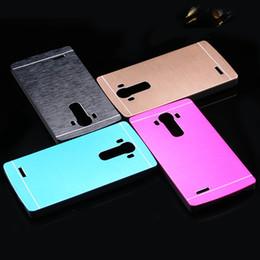 Wholesale Metal Case Lg Optimus - For LG G4 Metal Back Cover Luxury Hard Brush Skins Aluminum Protective Case For LG Optimus G4 H815 H810 H811 VS986 LS991 F500 fu