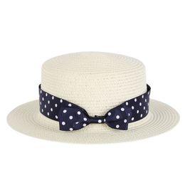 Wholesale Decorated Sun Hats - Wholesale- Women Summer Beach Wide Brim Sun Hat Straw Hat Floppy Pearls Decorate Caps