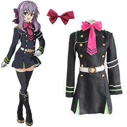 Wholesale Game Ends - Hiiragi Shinoa costumes cosplay uniform Japanese anime Seraph of the end clothing Masquerade Mardi Gras Carnival costumes supply from stoc