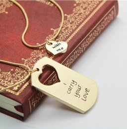 Wholesale Heart Shape For Valentines Wholesales - Statement Necklaces Valentine Day Gift Alloy Jewelry Lovers Heart Shaped Gifts Pendant Necklaces Wholesale Letter Brand for Women Necklaces