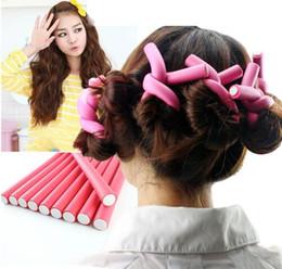 Wholesale Wand Hair Curler Rollers - 10 Pcs Set 7 Size Choose Curling Wand Set Hair Curling Tong Sponge Curling Iron Hair Curler Roller Gift Set 8-22mm