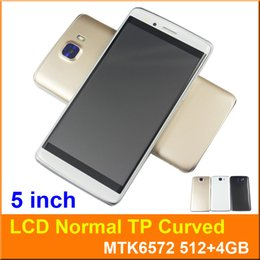 Wholesale Dhl Touch Screen Mobile Phone - 5 inch Dual Core MTK6572 512 4GB Android 5.1 Smart cell phone 5MP Dual camera SIM 540*960 3G WCDMA Unlocked S8 TP Curved Mobile Free DHL