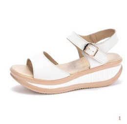 "Wholesale Platform Swing Sandal - New hot 35 - large size 43 Summer ""Women Sandals Casual Peep Toe Swing Shoes Lady Platform Wedges Sandals Walk Shoes Woman Gift Socks"