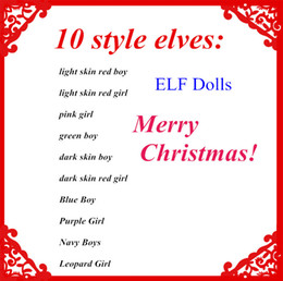 Wholesale Figure Big - Plush ELF Dolls Red Girl & Boy Figure Christmas elves Soft Book Xmas dolls on the shelf For Kids Holiday