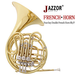 Wholesale French Horn Double - Wholesale- JAZZOR JZFH-310 4-key Double French Horn Entry Model, Bb F Wind Instruments French Horns with mouthpiece Free Shipping