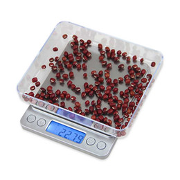Wholesale Food Diets - 2017 Christmas Electronic household scales Kitchen Weight Balance Scale High Accuracy Jewelry Food Diet Scales with 2 Strays