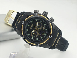 Wholesale Christmas Work Suits - invicta watches AAA All Subdials work Relogio Men's suits luxury men's watches fashion designer gold calendar bracelet band male clock