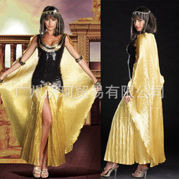 Wholesale Greek Goddess Costumes For Women - Adult Egyptian Cleopatra Costumes Sexy Queen Clothing Greek Goddess Cosplay Party Dress Athena Costume Halloween for Women