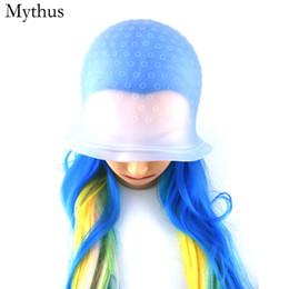Canada 1pcs capuchon en silicone de coloration des cheveux + 1pcs crochet en métal unisexe teinture des cheveux bonnet réutilisable outils de teinture pour cheveux Offre