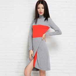 Wholesale Cashmere Sweater Dress Sale - Wholesale-2016 New Fashion Women Dress Cashmere Knitted Sweaters for ladies Turtleneck Winter Warm Pullover Hot Sale Women Clothes