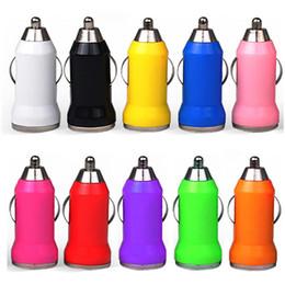 Isqueiros para automóveis on-line-200 pcs colorido carregador de carro bala mini usb adaptador usb iphone isqueiro para iphone 4 5 6 7 fone de ouvido speaker mp3 gps para samsung