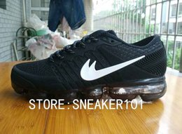 Wholesale Hot Pink Clay - original 2018 Vapormax plyknit Men running shoes maxes 2017 top hot sale high quality Trainers Tennis VaporMax Breathable Casual Shoes 40-47