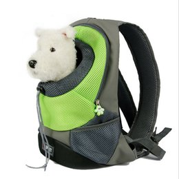 Wholesale Play Canvas - Dog Shoulder Bag Pets Outdoor Play Satchel Breathable Pets Mesh Bags Pouch Front Carrier Dog Head Exposure Canvas Dogs Carrier Large Size