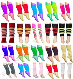Wholesale Black Fancy Dress - womens socks leggings GIRLS TEEN 80'S DANCE PLAIN RIBBED LEG WARMERS WOMEN LEGWARMER FANCY DRESS TUTU