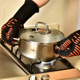 Wholesale Bbq Grill Gloves - Oven Mitts Gloves BBQ Grilling Cooking Gloves - 932F Extreme Heat Resistant Gloves Long For Extra Forearm Protection