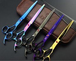 Wholesale Dog Grooming Thinning Scissors - 7.0 inch stragiht or 6.5 inch thinner Dog Grooming Scissors Pets Grooming Scissors Economy Scissors for Pet groomers pet suppllies