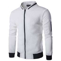 2018 Hoodies Men Casual Hoodies Hip Hop para hombre de la marca Diamond  lattice Ocio Zipper Jacket Hoodie sudadera Slim Fit hombres ropa deportiva  sudaderas ... 1a0c03be43f