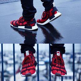 Wholesale Nice 45 - 2017 Newest Original R1 NMD RUNNER PK Primeknit Mission Nice kicks Boost Spider-Man Sneaker Men Women Lover red Running Sport Shoes eur36-45