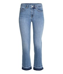 Wholesale Women Straight Leg Jeans - Wide Leg Jeans 2017 Spring And Summer Cotton Denim Stretch Slim Cropped Jeans With Ankle Boots High Waist Jeans