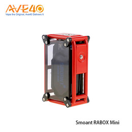 Wholesale Building Mechanical - Authentic Smoant RABOX Mini 150W Box Mod with 3300mAh Built-In Battery Adjustable Mode Mechanical Mod VS Smoant Charon TS Arms Race