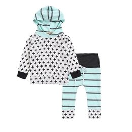 Wholesale Boys Cartoon Hoodies - Kids Two-piece Hoodies Clothing Sets Long Sleeve Cross Cartoon Boys Girls Coat Pants 1-3T Kids Cloths