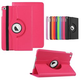 Wholesale S Mini Inch - Litchi 360 Rotating Leather smart Cover Case for ipad4 air 2 mini Retina 3 4 galaxy tab2 3 4 lite tab S A 7.0 10.1 8.4 inch Stand Cases