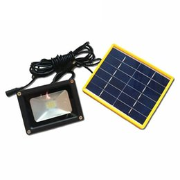 Wholesale Power Led Blue Spot Lights - Wholesale- Waterproof Solar powered LED Street Flood Light with 5M Wire+2200mA Battery Use in Outdoor Wall Lamp Outdoor Led Spot Lighting