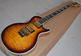 Wholesale Cheap Guitar Bodies Necks - tobacco burst floyd vibrato Custom High Cheap mahogany body and neck electric guitar EMS free shipping