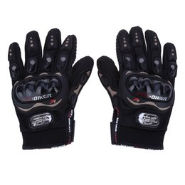 Wholesale Carbon Riding - Paired Full Finger Motorcycle Gloves Motorbike Outdoor Sports Riding Breathable Protective Gears Moto Racing Black M L XL XXL 177846101