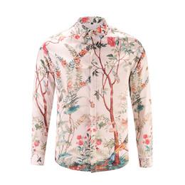 Wholesale Women Shirt Silk Style - Chian Famous Brand Chinese Style Men Women Luxury T-shirt Fashion Casual 3D Flower Tree Long Sleeve T-shirts