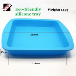 Wholesale Silicone Bakeware Heat - Silicone baking tray silicone flat tray bakeware cake pan molds 240*222*35mm Food grade silicone heat resistant Eco-friendly FDA Approved