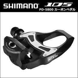 Wholesale Floating Boat - SHIMANO 5800 Pedals SPD SL Carbon Pedals Floating Crampons 105 CARBONE With Crampons Road bike Bicycle 5800 pedals free boat