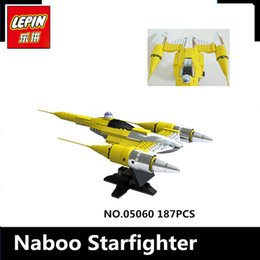 Wholesale Built Aircraft Models - IN STOCK LEPIN 05060 187Pcs UCS naboo star type fighter aircraft Model Building Kit Blocks Bricks Compatible 10026 Toy