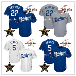 Wholesale Men s All Star Game jersey Clayton Kershaw Corey Seager Los Angeles Dodgers Baseball Jerseys Stitched Cool Base Jerseys