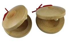 Wholesale Wholesale Musical Instrument Prices - Factory Price!!! 5000pcs Wooden Sounding Boards Round Dance Board Plate Musical Instruments Toys