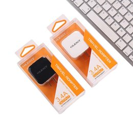 Wholesale Iphone Car Dock Charger - OLESiT Dual USB Wall charger 2.4A Car Charger 2.1A Fast Charging Mobile Phone Charger for iphone samsung with retail box