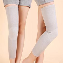 Wholesale Carbon Elbow - Wholesale- Lengthen Kneepad Keep Warm Joelheira Leg Support Bamboo Carbon Fiber Rodilleras Guard Knee Protector Pad Brace High Elastic
