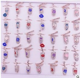 Wholesale Armor Joint Finger - NEW Delicate diamond-encrusted finger nail set tail ring joint ring crown armor accessories Joint ring,you will love it,shipping free