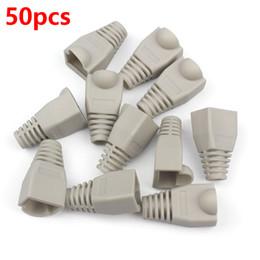 Wholesale Network Cable Covers - Wholesale- 50pcs RJ45 Cap Ethernet Cable Crystal Plug Boots Network RJ45 Cable Plug Adapter rj45 Rubber Cover Cap Cat5 6 Connector HY202*50