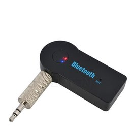 Wholesale Video Wireless Mic - Universal 3.5mm Streaming Car A2DP Wireless Bluetooth Car Kit AUX Audio Music Receiver Adapter Handsfree with Mic For Phone MP3 Retail Box