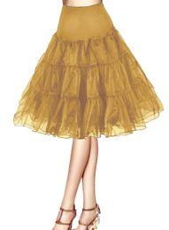 Wholesale Petticoats Woman - Vintage Short 2017 Women 50s Petticoat Rockabilly Tutu Underskirts Half Slips Party Petticoat Skirts Tutu Swing Skirt Underskirts Crinoline