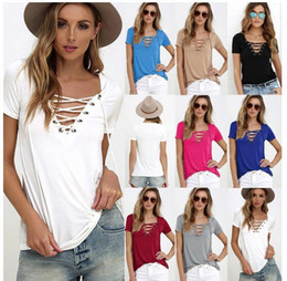 Wholesale Womens White Ruffle Shirt Xl - Womens Casual Tees Summer T shirt Tops Ladies Grey Ribbed Crisscross Front Half Sleeve Cold Shoulder T-shirt