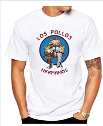 Wholesale Chicken Blue - 2017 cotton Los Pollos Hermanos T Shirts Men Chicken Brothers Man T-shirts Sitcoms Short Sleeve O Neck Cotton Shirts Rock Brand Clothing