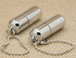 Wholesale Mini Oil Lighter - new pill case shape lighter Mini Smooth Polished Mirror Metal Lighter Oil Cigarette Smoking Cigar Flint Kerosene Lighter